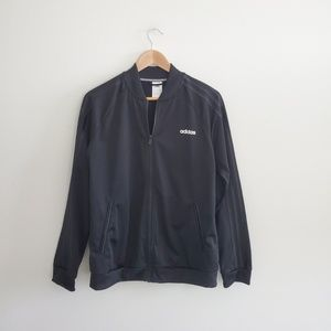 ADIDAS : BLACK TRACK JACKET W DOUBLE SIDE POCKETS